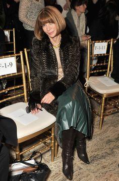 Anna Wintour Photos: Zac Posen - Front Row - Fall 2012 Mercedes-Benz Fashion Week
