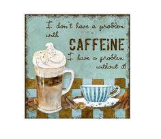 Aqua Coffee Coaster by BuffaloCreekCrafts on Etsy, $5.00