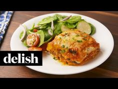 This eggplant lasagna from Delish.com is cheesy and completely meat free.
