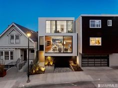 This glassy Glen Park home has stacked cube spaces with walls of glass and an open floor plan. Click through for more images of this ultra-modern San Francisco home.