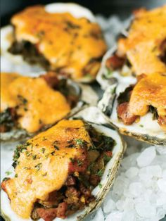 Baked Oysters- Soby's version of Oyster Rockefeller, a very tasteful starter to your meal! #Soby's #Table301 #bakedoysters