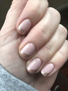 Perfecy rose gold gel French manicure: Essie Go Go Geisha base, Orly Rage shimmer accent.