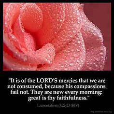 Imagem inspirada por Lamentações 3: 22-23
