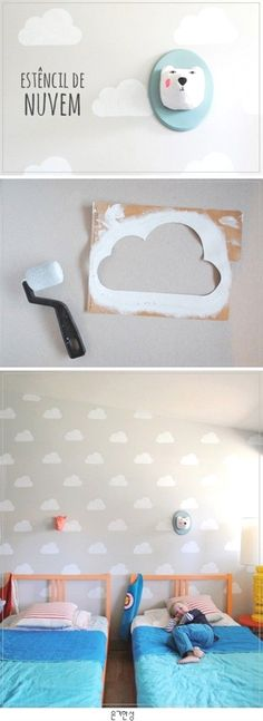 Is your little's room needing some cloudy skies? Easy peasy DIY. #ChildRoom