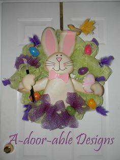 Easter Wreath - Jennifer Snyder A-door-able Designs Facebook Page
