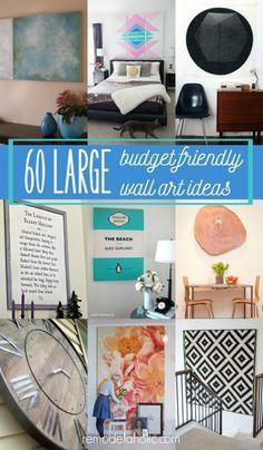 60 Budget-Friendly DIY Large Wall Decor Ideas