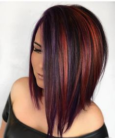 Working together to make something beautiful! Color by me, cut by - New Hair Design Love Hair, Great Hair, Gorgeous Hair, Hair Color And Cut, Haircut And Color, Grunge Hair, Grunge Clothes, Hair Highlights, Purple Highlights