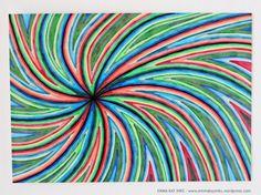 Hand drawn - ORIGINAL art - Unique artwork - Ink drawing - Line art - Illustration - Wall art - Statement - Pen and paper - Modern - Color