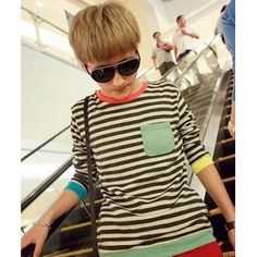 spring 2012 mens casual striped round neck t shirts