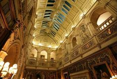 the ceiling of the Great Hall: via Highclere Castle