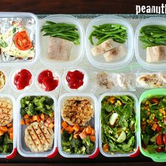 Meal Prep Mondays - One Week Prep - Peanut Butter and Fitness Make Ahead Meals, Freezer Meals, Clean Meals, Turkey Patties, Protein Pancakes, Meal Prep For The Week, Meal Planning, Prepping, Healthy Living