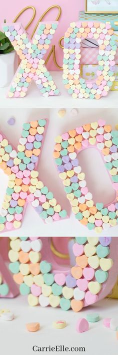 DIY Candy Heart XO Craft