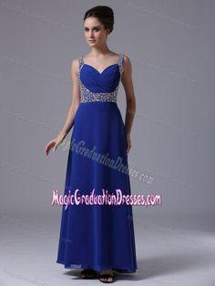 939db1f2a4b Royal Blue Beaded Straps Floor-length 5th Grade Graduation Dresses in  Freeport 5th Grade Graduation
