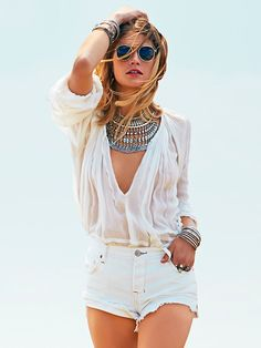 Free People FP ONE Tie That Binds Blouse at Free People Clothing Boutique