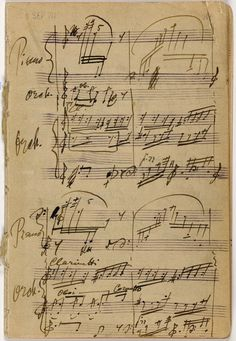 Vintage Music Sheet Background ~ Igor Stravinsky's 'Petrushka' sketches Music Manuscript, The Rite, Music Score, Music Aesthetic, Music Composers, Vintage Music, Music Education, Classical Music, Art Music