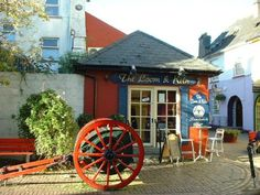Traditional Irish coffee shop in Kinsale, compact little town with a quaint air of antiquity in the narrow streets.