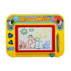 Lbyurs Magnetic Drawing Board for Kids Magnetic Erasable Colorful Drawing Board Toy Gift for Babies Kids Toddlers Children Travel Size  *** Details can be found by clicking on the image.