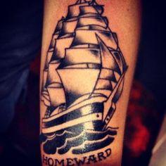 Sailing vessel tattoo