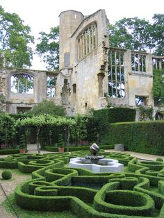 ruins with formal gardens