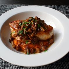 Sausage-Mushroom Chicken Cooked sausage juices lend meaty flavor to chicken breasts and their accompanying mushroom wine sauce in this easy yet impressive recipe by Chef John. Best Mushroom Recipe, Mushroom Recipes, Cooking For Beginners, Recipes For Beginners, Beginner Cooking, Chef John Recipes, Cooking Recipes, Sweet Italian Sausage, Stuffed Mushrooms