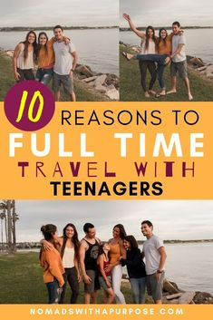 10 Reasons People Don't Travel Full Time with Teenagers Rv Travel, Time Travel, Adventure Travel, Travel Tips, Travel Destinations, Travel Couple, Family Travel, Camping With Kids, Family Camping