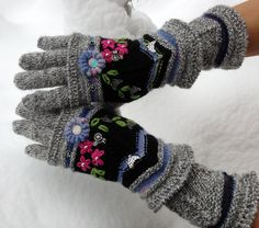 Fair Isle gloves and mittens Four Seasons by Dom Klary by domklary,