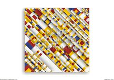 BWBW003a. CG print. Photo collage composed of Broadway Boogie Woogie by Mondrian.