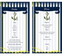 Do It Yourself: FREE printable menu from our nautical shoot