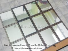Another Daily Blog: $699 Pottery Barn White Paned Mirror DIY Knock off Photo Tutorial for $30