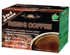 Review: Reishi Columbian Coffee – Best instant coffee?    Longreen Corporation, Reishi Coffee, Reishi Mushroom + Columbian Coffee, 30 Sachets, 2.18 g Each – Instant Coffee Review