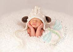 Bumpy Little Lamb Bonnet by sweetdecemberhats on Etsy, $22.00