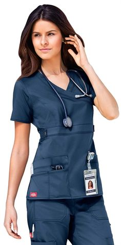 Scrubs - Dickies Youtility Mock Wrap Scrub Top