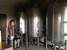 Craft beer brewing tanks