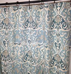Shower Curtain Ikat Shower Curtain Spa Blue Ivory Aqua Grey Teal Long Shower  Curtain 72 X 84 108 Extra Wide Shower Curtain Extra Long
