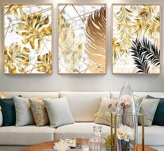 Picture Wall Living Room, Living Room Pictures, Wall Art Pictures, Leaf Wall Art, Leaf Art, Modern Room, Modern Wall Art, Contemporary Art, Rooms Home Decor