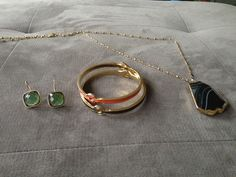 My three pieces from @Rocks Box Savvy in San Francisco: RocksBox