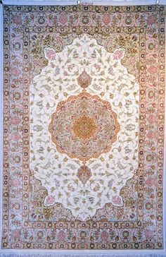 Retail Price: $21,000.00 You Save: 72% ($15,100.00) Item#: S112 Category: Small(3x5-5x8) Persian Rugs Design: Center Medallion Size: 131 x 202 (cm)      4' 3 x 6' 7 (ft) Origin: Iran Foundation: Silk Material: Silk Weave: 100% Hand Woven Age: Brand New KPSI: 800 You Pay : $5,900