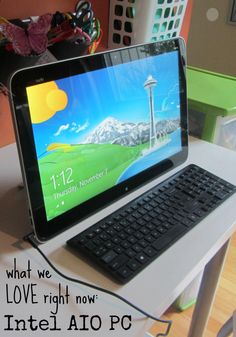 the Intel All-In-One PC: fab device for digital families #IntelAIO  #CES2014 #intelpartner