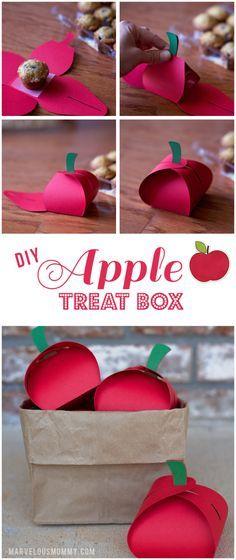 DIY Apple Treat Boxes | Teachers Gift Ideas | MarvelousMommy.com