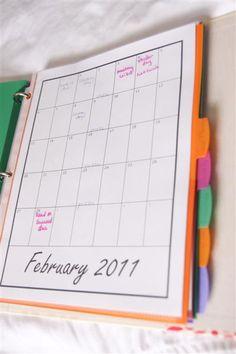 A Craft a Day: Home Management Binder
