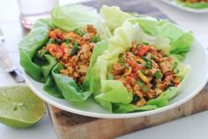 Chipotle Chicken Lettuce Wraps can be used with all phases of the Ideal Protein Weight Loss Program.