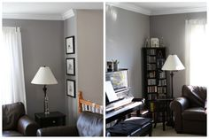 Thinking I am going to paint my living room and dining room grey with white trim with the wood floors.