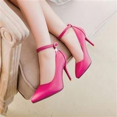 37.40$  Watch now - http://aiwhn.worlditems.win/all/product.php?id=32778377864 - Plus sizes 40 41 point toes pumps shoes for woman black beige pink thin high heels lady ankle strap pink party pumps shoes TG895