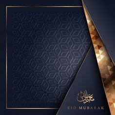 Eid mubarak greeting card with floral ornament pattern background and arabic calligraphy Premium Vector Carte Eid Mubarak, Feliz Eid Mubarak, Eid Adha Mubarak, Eid Mubarak Wishes, Eid Mubarak Greeting Cards, Happy Eid Mubarak, Eid Mubarak Greetings, Eid Cards, Eid Al Fitr