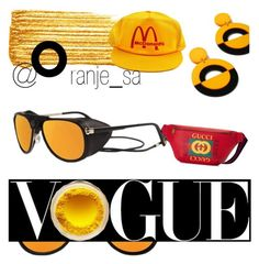 Designer Clothes, Shoes & Bags for Women Happy Pop, Get Happy, Mirrored Sunglasses, Gucci, Shoe Bag, Yellow, Polyvore, Stuff To Buy, Shopping