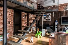 Unconventional Modern Design for a Loft in a Old Factory, Moscow - 3