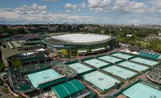 The roof is on Centre Court. The covers are off on No.1 Court. Wimbledon 2015