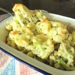 A beautiful, modern and grown up version of an old dish and what a great way to present an ugly vegetable. Bags of flavour and lots of wow power! Hamilton, Potato Salad, Cauliflower, Cheese, Dishes, Vegetables, Ethnic Recipes, Food, Cauliflowers