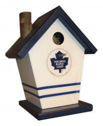 Toronto Maple Leaf - Buy A Birdhouse Birdhouse Ideas, Birdhouses, Toronto Maple Leafs, Basements, Squirrel, Hockey, Nest, Sports, Fun