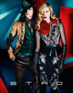 I love the jewel toned colors in this Etro ad
